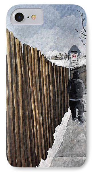 A Cold Day In Pointe St. Charles Phone Case by Reb Frost