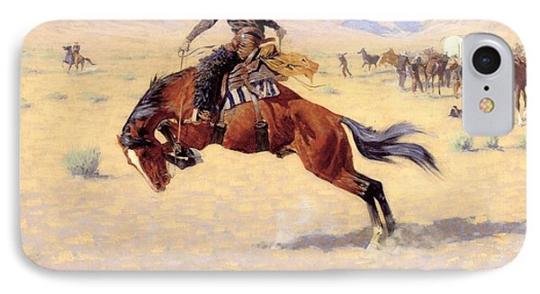 A Cold Morning On The Range  Phone Case by Frederic Remington
