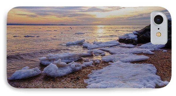 IPhone Case featuring the photograph A Cold Sandy Hook Winter by Debra Fedchin