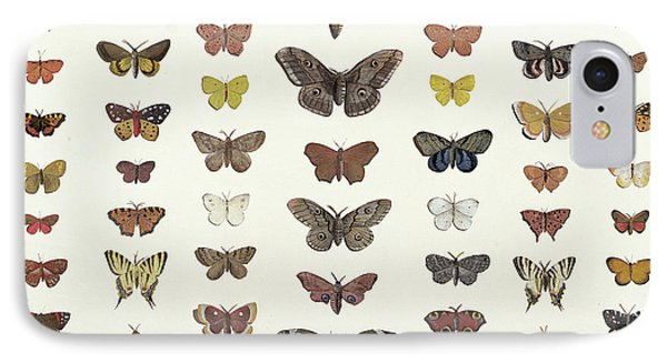 A Collage Of Butterflies And Moths IPhone Case