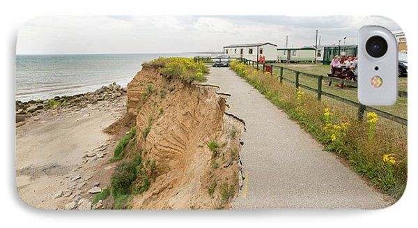 A Collapsed Coastal Road At Barmston IPhone Case