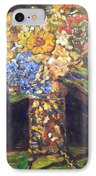 IPhone Case featuring the painting A Colorful Sun-day by Belinda Low