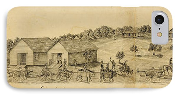A Confederate Bull Battery Previous To The Battle Of Bull Run IPhone Case by Celestial Images