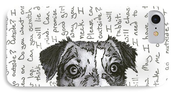 A Conversation With A Jack Russell Terrier Phone Case by Salvadore Delvisco