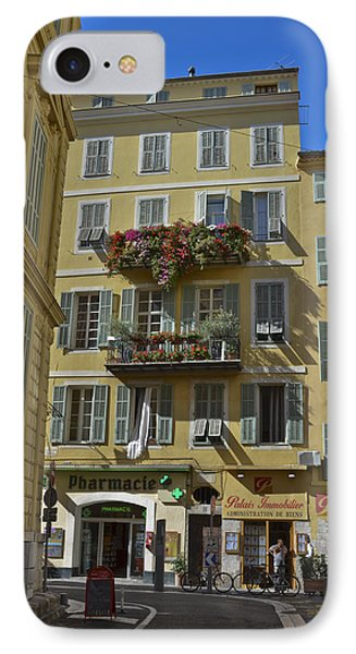 IPhone Case featuring the photograph A Corner In Nice by Allen Sheffield