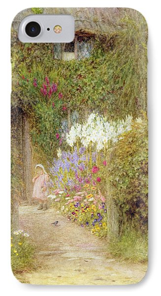 A Cottage At Redlynch IPhone Case by Helen Allingham