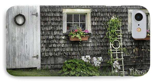 A Cottage Garden - Essence Of Mid Coast Maine IPhone Case by Thomas Schoeller