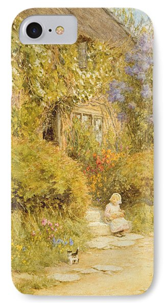 A Cottage Near Crewkerne  IPhone Case by Helen Allingham