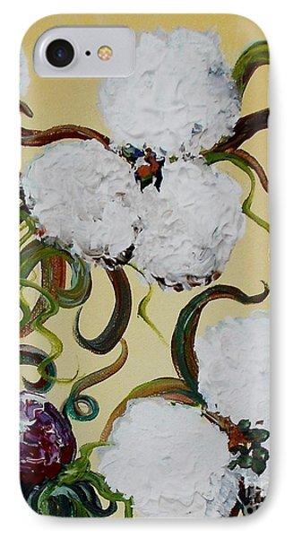 A Cotton Pickin' Couple Phone Case by Eloise Schneider
