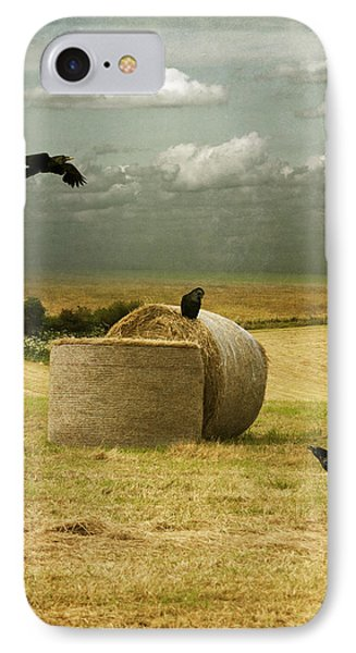 IPhone Case featuring the photograph A Counrty Hay Field by Ethiriel  Photography