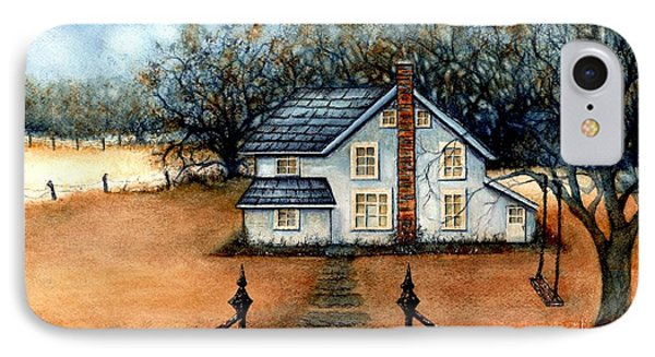 A Country Home IPhone Case by Janine Riley