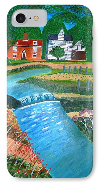 IPhone Case featuring the painting A Country Stream by Magdalena Frohnsdorff
