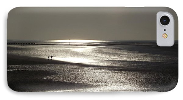 A Couple On A Deserted Beach IPhone Case