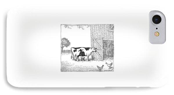 A Cow Has A Spot That Looks Like A Farmer IPhone Case