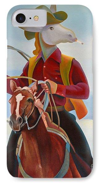 A Cowboy Phone Case by Jukka Nopsanen