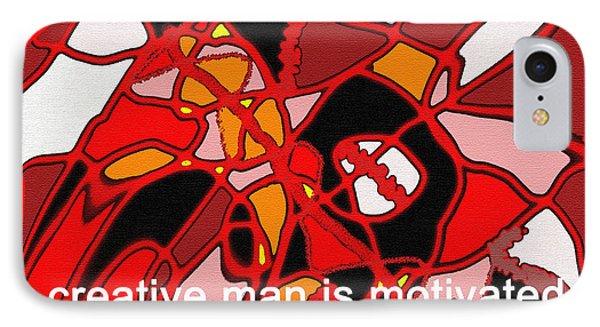 A Creative Man IPhone Case by Ian  MacDonald