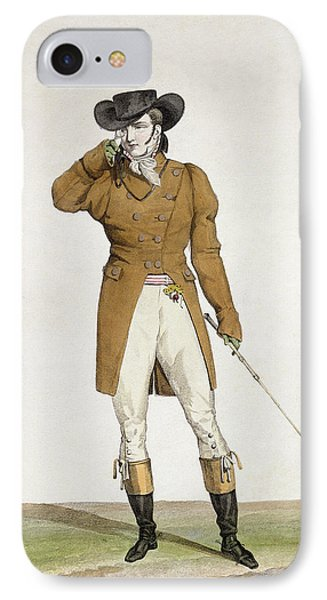 A Dandy IPhone Case by Antoine Charles Horace Vernet