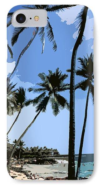 A Day At The Beach  IPhone Case by Karen Nicholson