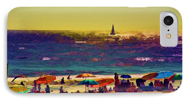 A Day At The Beach IPhone Case by Billie-Jo Miller