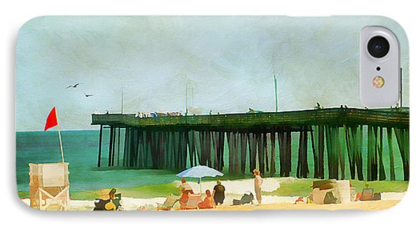 A Day At The Beach IPhone Case by Darren Fisher