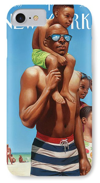 A Day At The Beach IPhone Case by Kadir Nelson