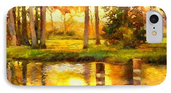 A Day At The Pond IPhone Case by Elizabeth Coats