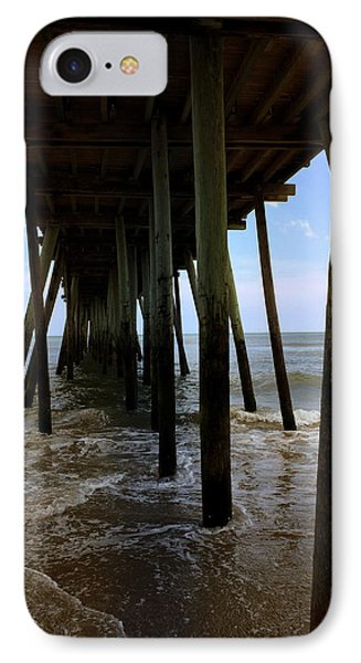 IPhone Case featuring the pyrography A Day At Virginia Beach by Rebecca Davis