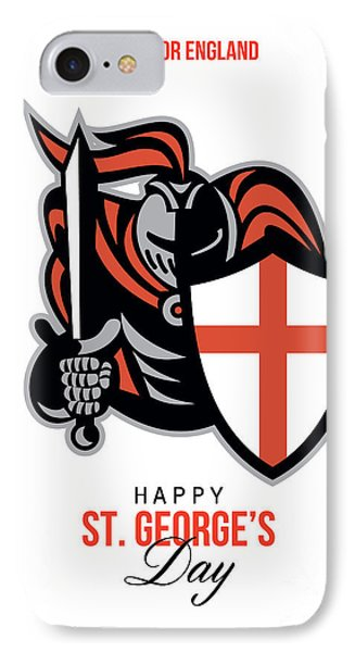 A Day For England Happy St George Greeting Card Phone Case by Aloysius Patrimonio