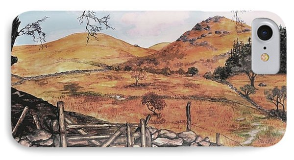 IPhone Case featuring the painting A Day In The Country by Sophia Schmierer