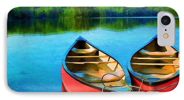 A Day On The Lake Phone Case by Darren Fisher