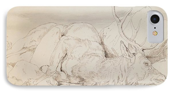 A Dead Stag Phone Case by Sir Edwin Landseer