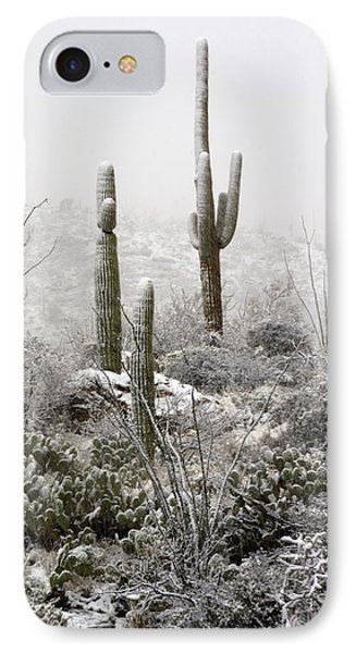 A Desert Snow Day  Phone Case by Saija  Lehtonen