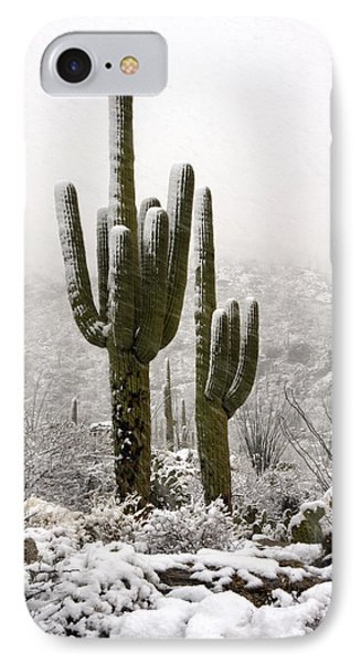 A Desert Southwest Snow Day  IPhone Case