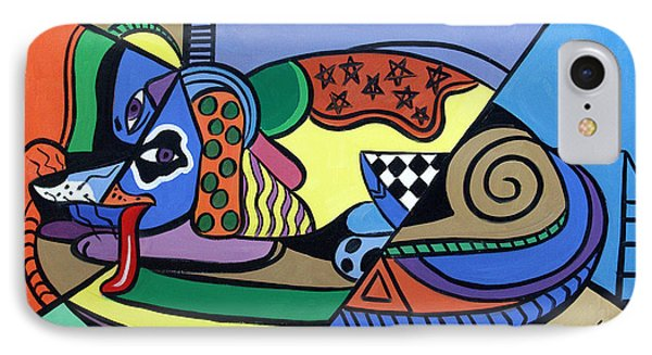A Dog Named Picasso Phone Case by Anthony Falbo