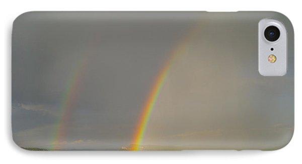 A Double Rainbow Near Durango Phone Case by Jeff Swan