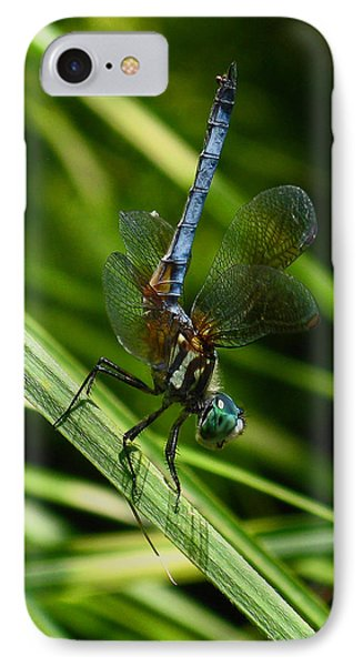 IPhone Case featuring the photograph A Dragonfly by Raymond Salani III