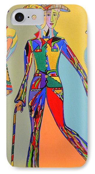 IPhone Case featuring the painting Men's Fantasy by Marie Schwarzer