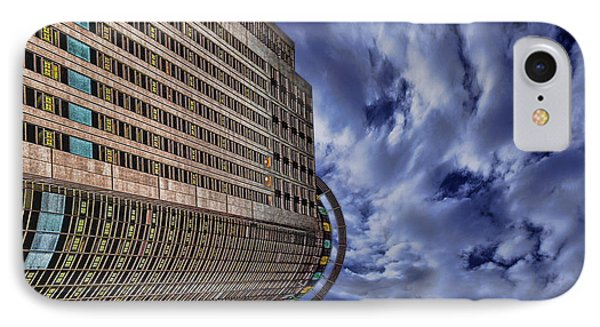 IPhone Case featuring the photograph A Drifting Skyscraper by Ron Shoshani