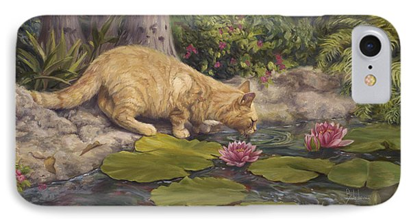 A Drink At The Pond Phone Case by Lucie Bilodeau