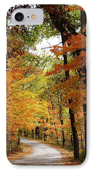A Drive Through The Woods IPhone Case by Bruce Bley