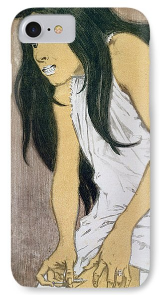 A Drug Addict Injecting Herself IPhone Case by Eugene Grasset