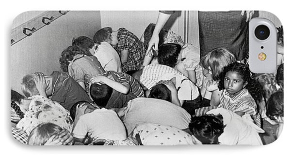 A Duck And Cover Exercise In A Kindergarten Class In 1954 IPhone Case