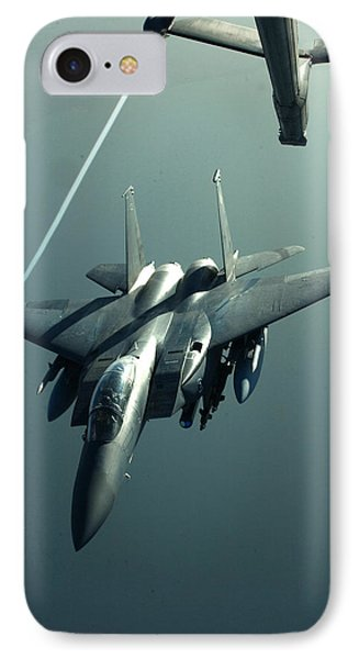 A F-15e Disengaging From A Kc-10 IPhone Case