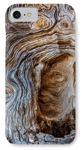 IPhone Case featuring the photograph A Face In The Wood by Beverly Parks