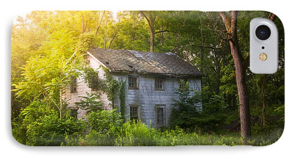 A Fading Memory One Summer Morning - Abandoned House In The Woods Phone Case by Gary Heller