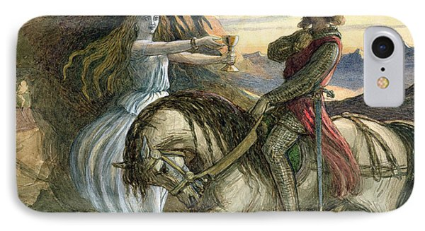 A Fairy And A Knight IPhone Case by Richard Doyle