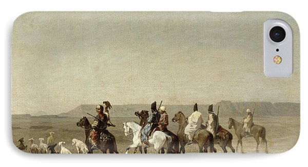 A Falcon Hunt, 1862 Oil On Canvas IPhone Case