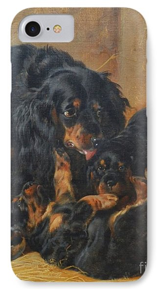 A Family Of Gordon Setters IPhone Case by Celestial Images
