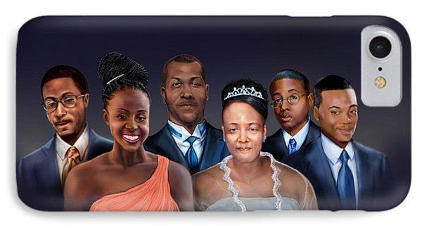 A Family Portrait Phone Case by Reggie Duffie