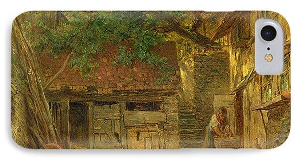 A Farmhouse Courtyard, 1862 Oil On Canvas IPhone Case